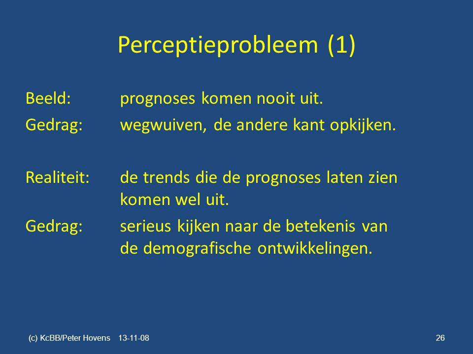 Perceptieprobleem (1) Beeld: prognoses komen nooit uit.
