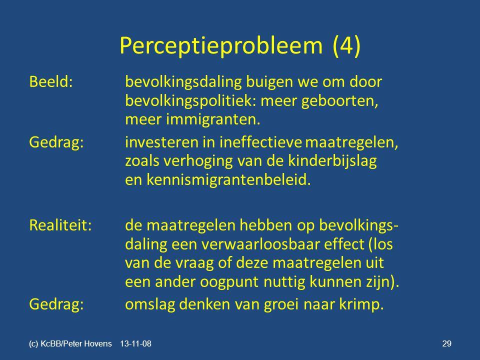 Perceptieprobleem (4) Beeld:bevolkingsdaling buigen we om door bevolkingspolitiek: meer geboorten, meer immigranten.