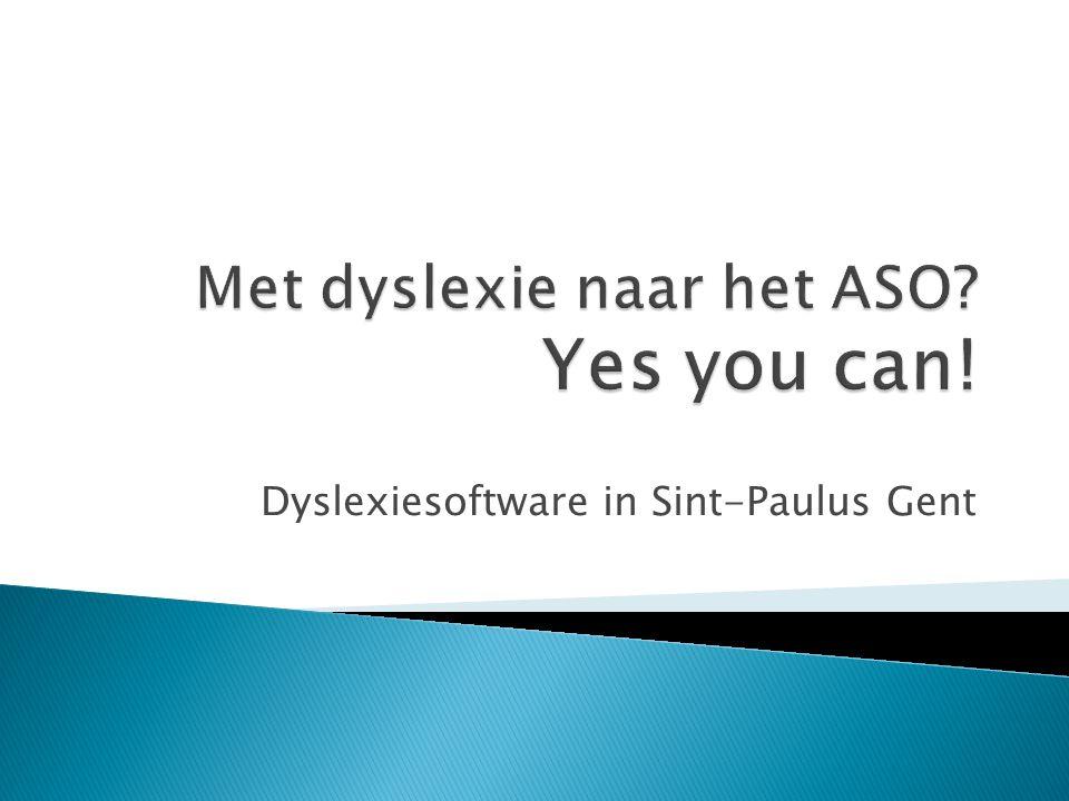 Dyslexiesoftware in Sint-Paulus Gent