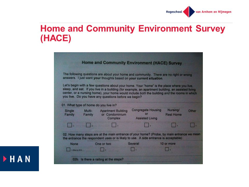Home and Community Environment Survey (HACE)