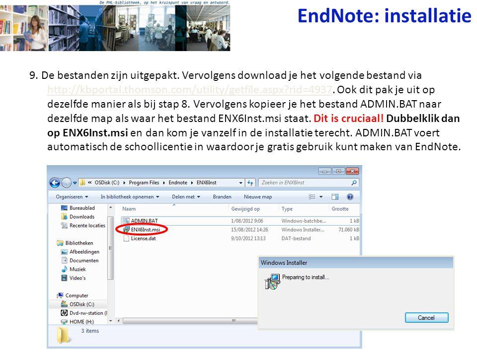 9. De bestanden zijn uitgepakt. Vervolgens download je het volgende bestand via http://kbportal.thomson.com/utility/getfile.aspx?rid=4937. Ook dit pak