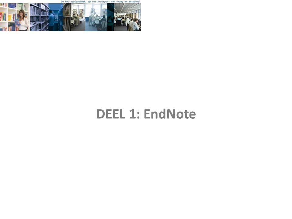 DEEL 1: EndNote