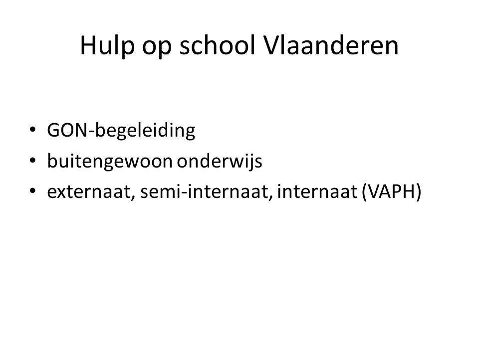 Hulp op school Vlaanderen • GON-begeleiding • buitengewoon onderwijs • externaat, semi-internaat, internaat (VAPH)