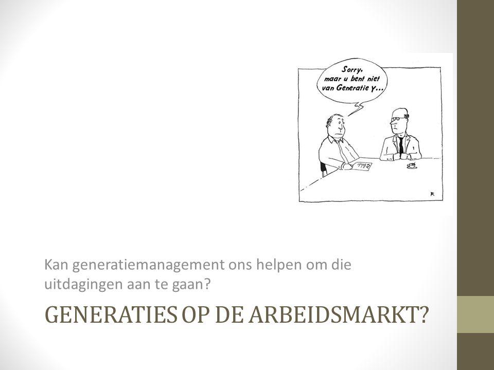 GENERATIES OP DE ARBEIDSMARKT? Kan generatiemanagement ons helpen om die uitdagingen aan te gaan?