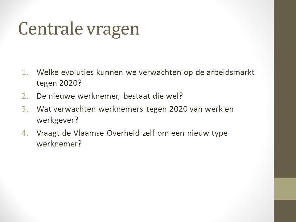 Aanpak 1.Welke evoluties kunnen we verwachten op de arbeidsmarkt tegen 2020.