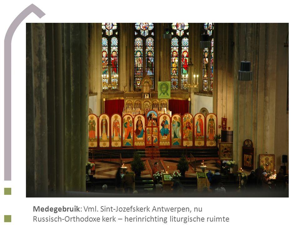 Medegebruik: Vml. Sint-Jozefskerk Antwerpen, nu Russisch-Orthodoxe kerk – herinrichting liturgische ruimte