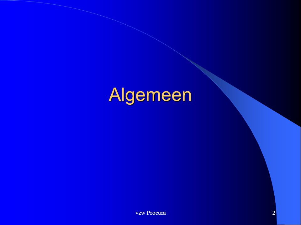 vzw Procura2 Algemeen