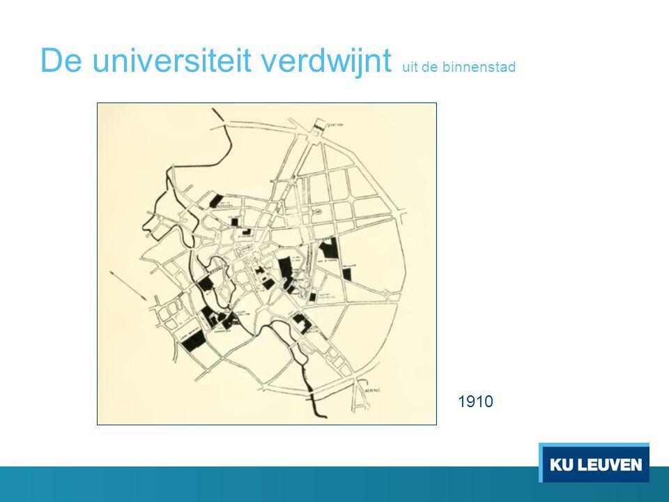 De universiteit 'verdwijnt'… uit de binnenstad 2010