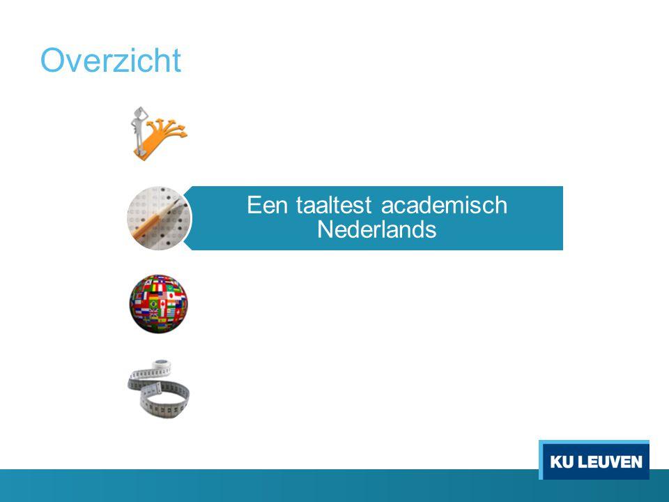 Overzicht Inleiding Een taaltest academisch Nederlands Implicaties voor meertaligheid Begeleiding op maat