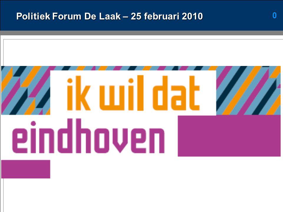 0 Politiek Forum De Laak – 25 februari 2010