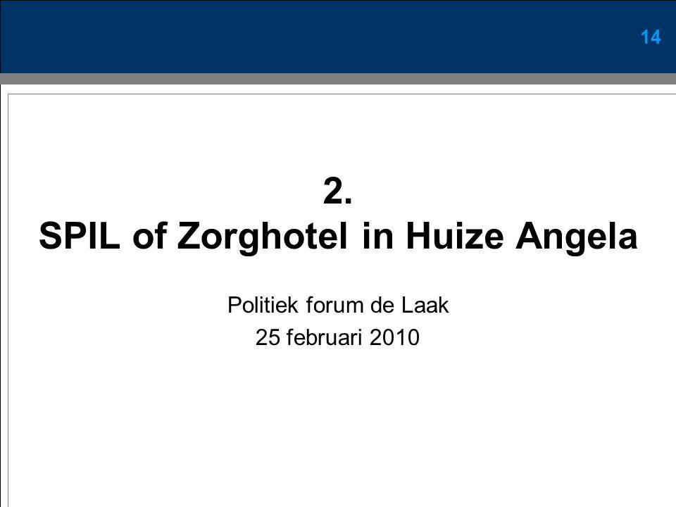 14 2. SPIL of Zorghotel in Huize Angela Politiek forum de Laak 25 februari 2010