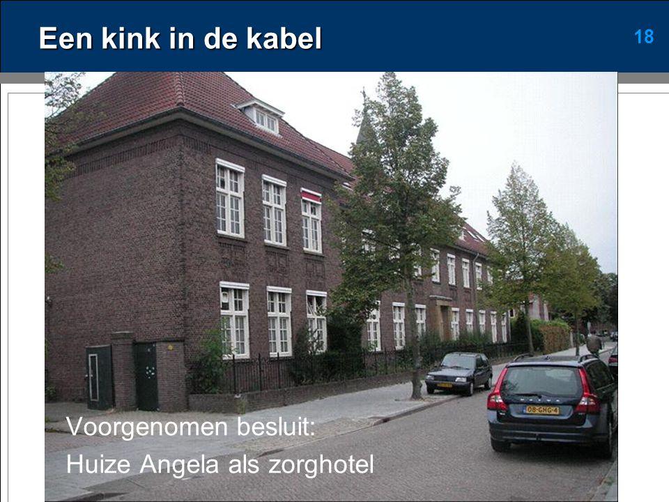 18 Een kink in de kabel Voorgenomen besluit: Huize Angela als zorghotel