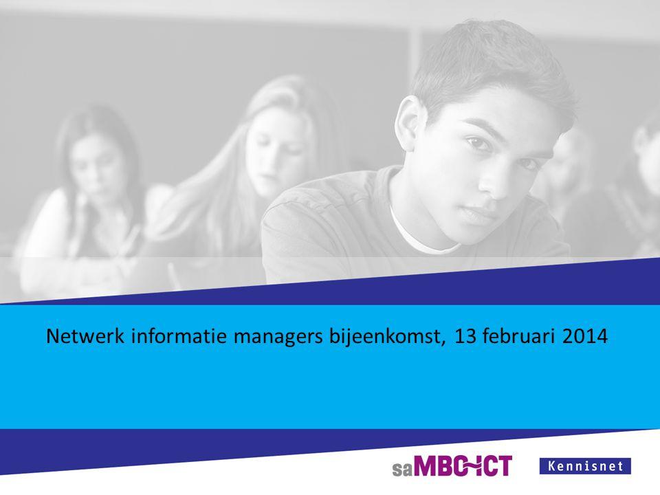 Netwerk informatie managers bijeenkomst, 13 februari 2014