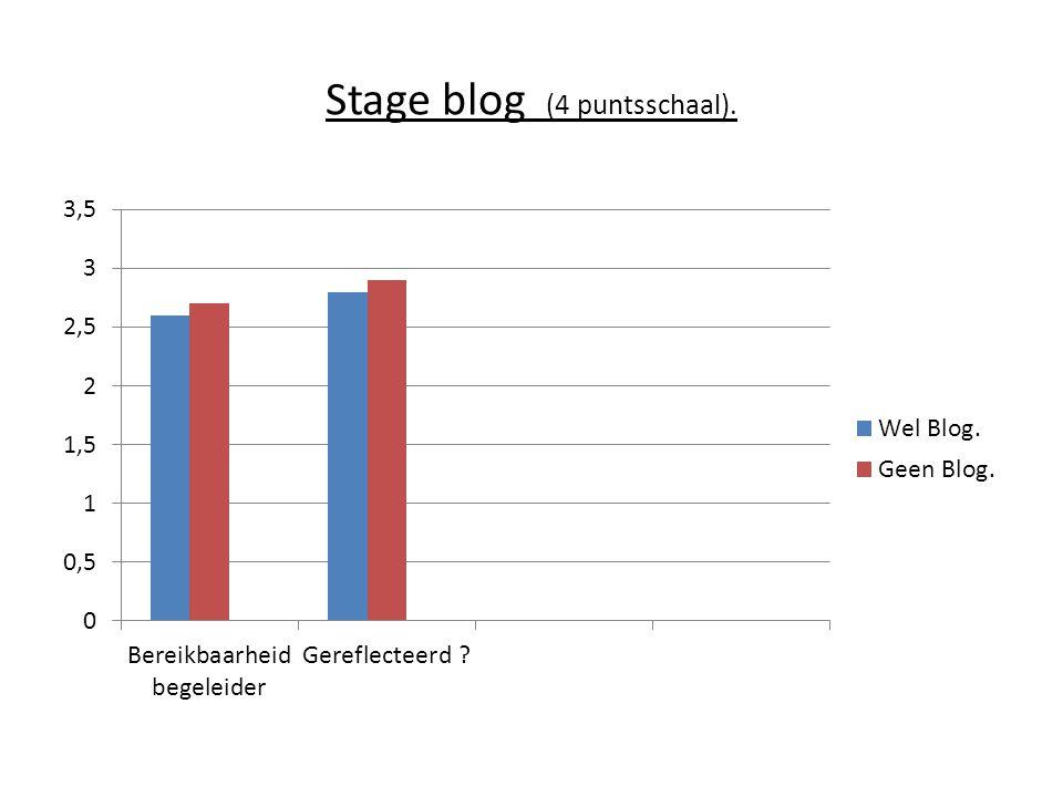 Stage blog (4 puntsschaal).
