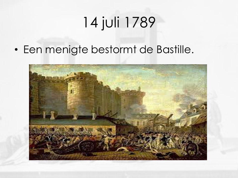 14 juli 1789 • Een menigte bestormt de Bastille.