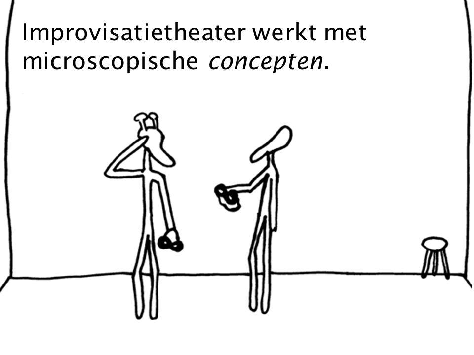 Improvisatietheater werkt met microscopische concepten.