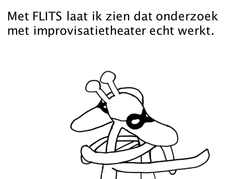 Met FLITS laat ik zien dat onderzoek met improvisatietheater echt werkt.