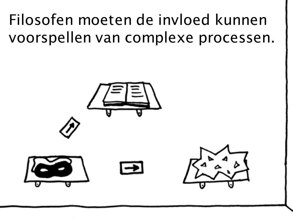 Filosofen moeten de invloed kunnen voorspellen van complexe processen.