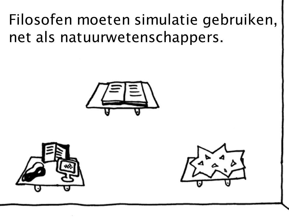 Filosofen moeten simulatie gebruiken, net als natuurwetenschappers.
