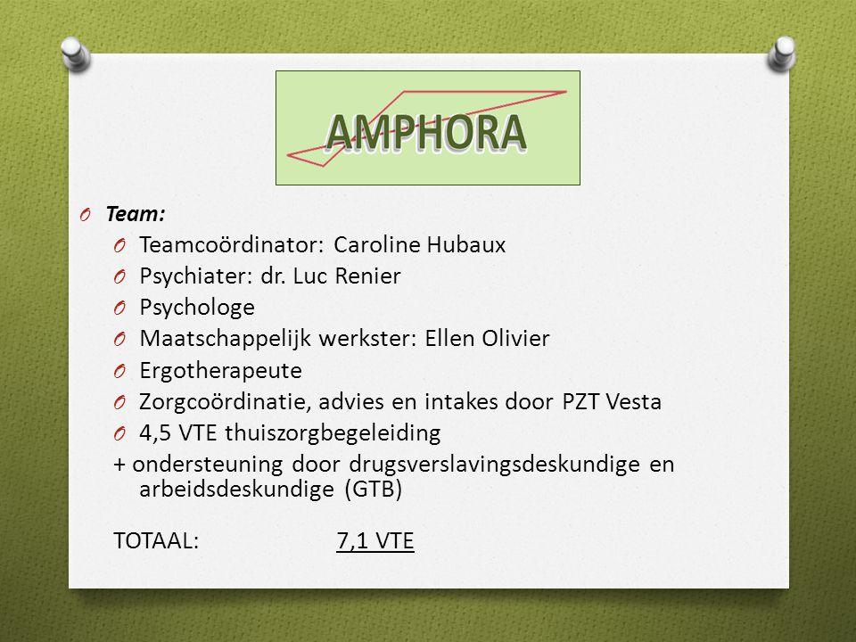O Team: O Teamcoördinator: Caroline Hubaux O Psychiater: dr.
