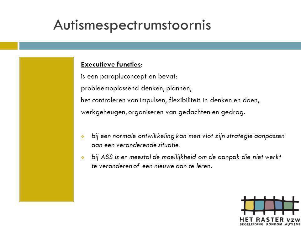 Autismespectrumstoornis DE BUITENKANT (= zichtbare gedrag) De buitenkant (het gedrag) is het gevolg van wat er binnenin (het anders denken) afspeelt.