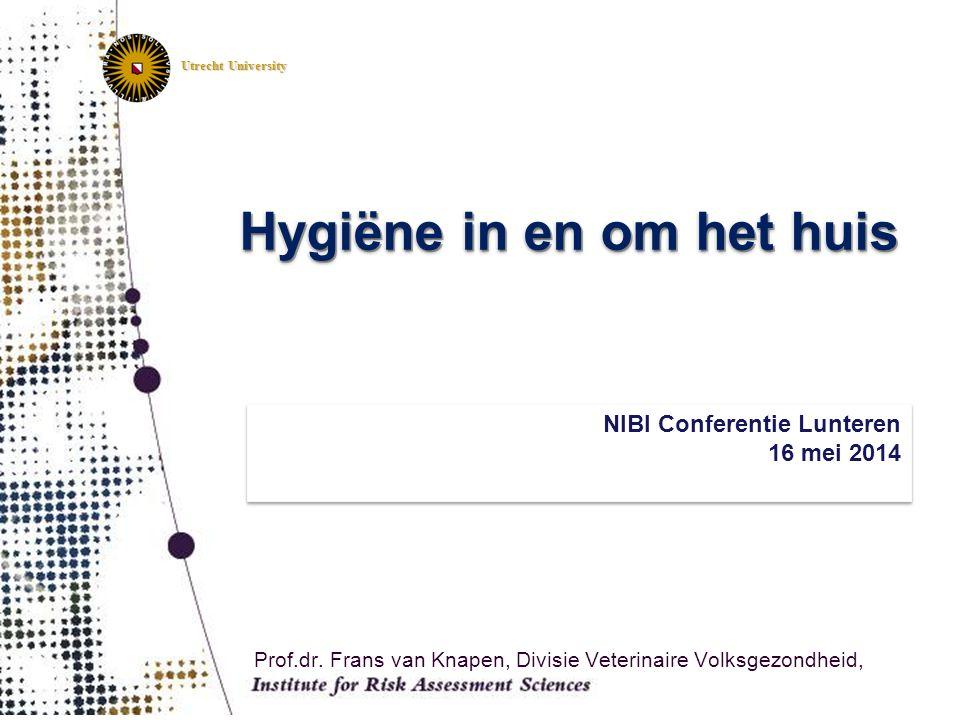 Utrecht University Prof.dr. Frans van Knapen, Divisie Veterinaire Volksgezondheid, NIBI Conferentie Lunteren 16 mei 2014 NIBI Conferentie Lunteren 16