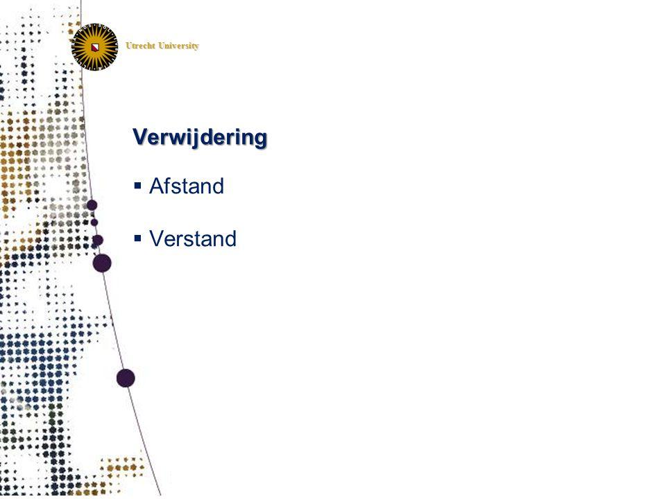 Utrecht University Verwijdering  Afstand  Verstand