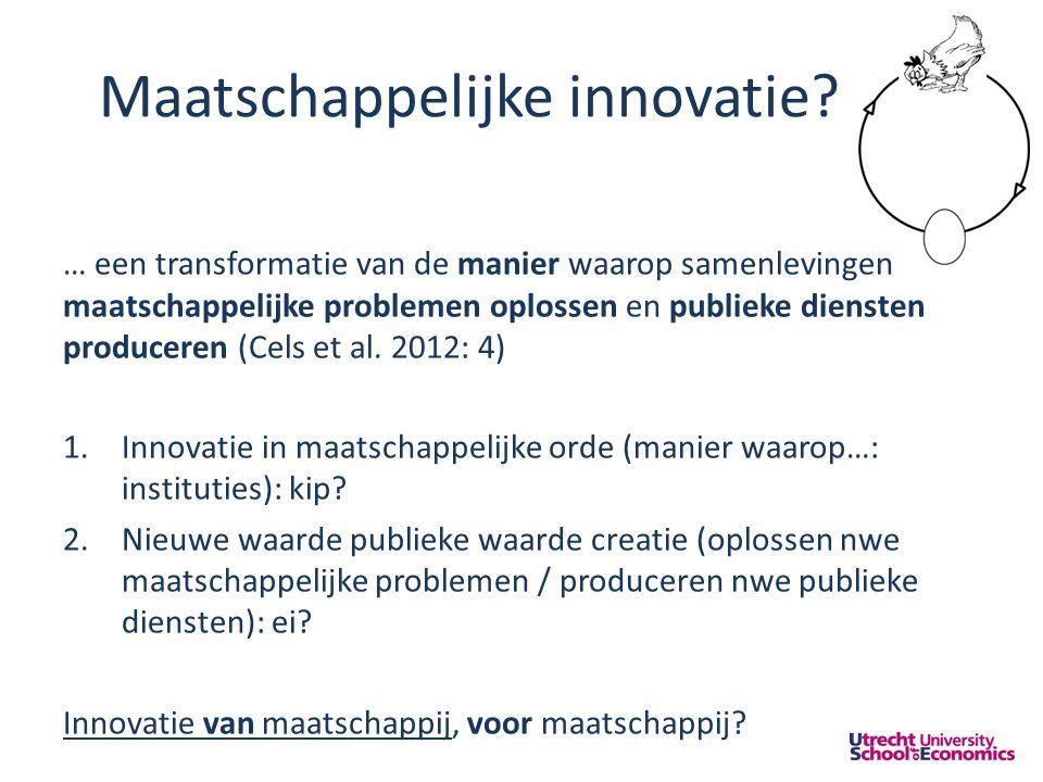Maatschappelijke innovatie.
