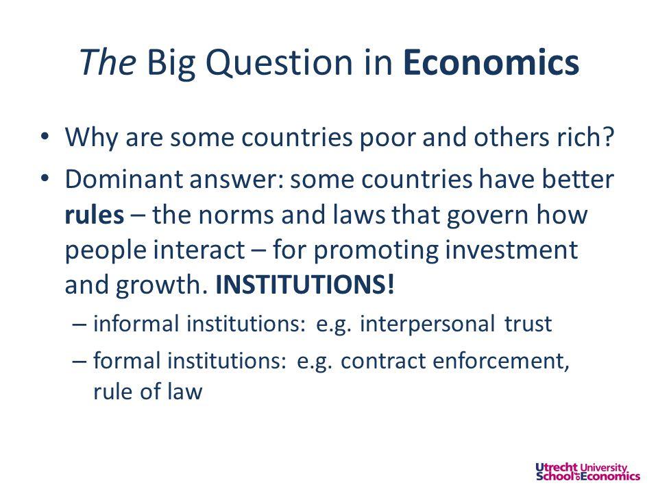 Instituties & ondernemerschap • Kwantiteit.Te veel of te weinig • Kwaliteit.
