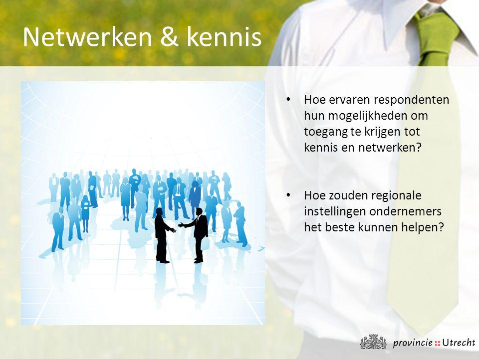 • Hoe ervaren respondenten hun mogelijkheden om toegang te krijgen tot kennis en netwerken? • Hoe zouden regionale instellingen ondernemers het beste