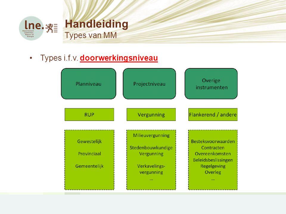Handleiding Types van MM •Types i.f.v. doorwerkingsniveau