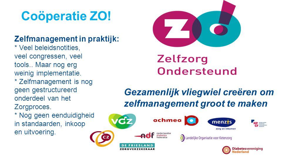 Coöperatie ZO! Zelfmanagement in praktijk: * Veel beleidsnotities, veel congressen, veel tools.. Maar nog erg weinig implementatie. * Zelfmanagement i