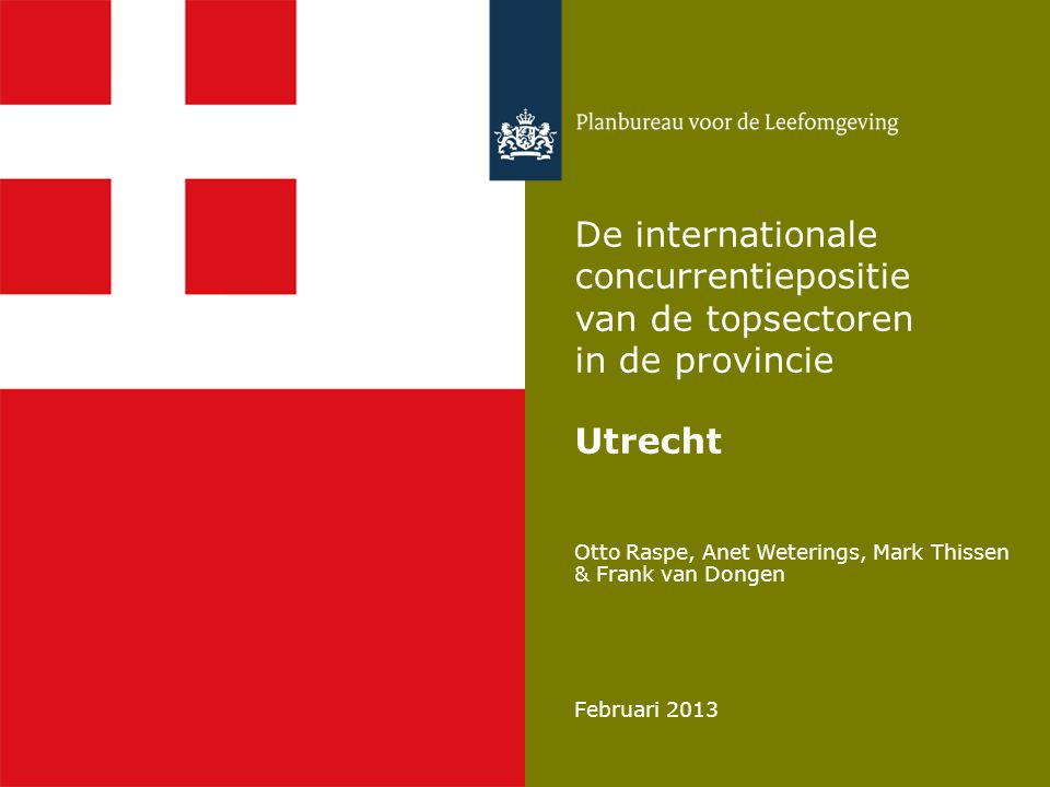 Centrale vraag in deze presentatie 2 Welke investeringsagenda hoort bij het verbeteren van de concurrentiepositie van de topsectoren in de provincie Utrecht?