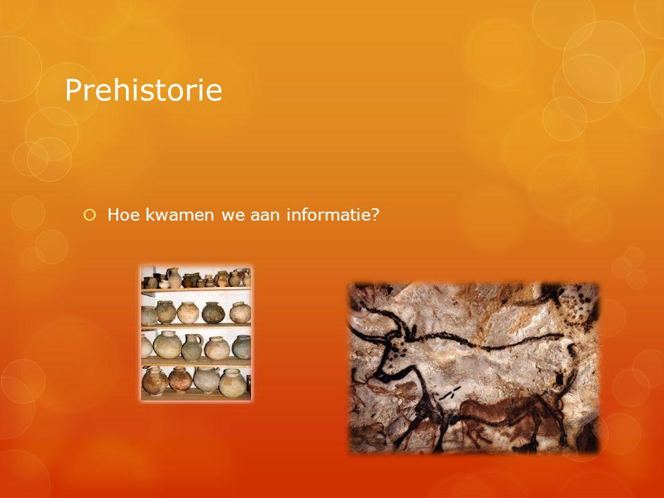 Prehistorie  Hoe kwamen we aan informatie?