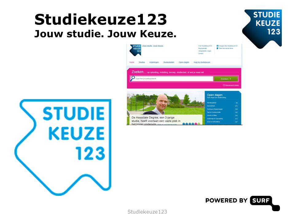 Studiekeuze123 Jouw studie. Jouw Keuze. Studiekeuze123