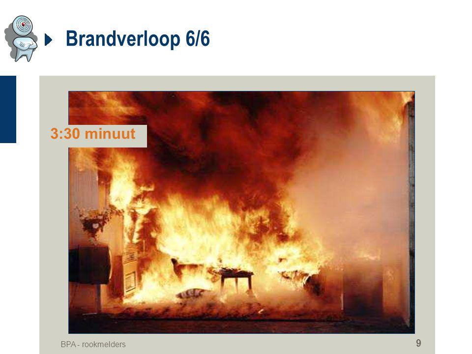 BPA - rookmelders 9 Brandverloop 6/6 3:30 minuut