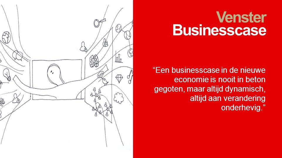 """Venster Businesscase """"Een businesscase in de nieuwe economie is nooit in beton gegoten, maar altijd dynamisch, altijd aan verandering onderhevig."""""""