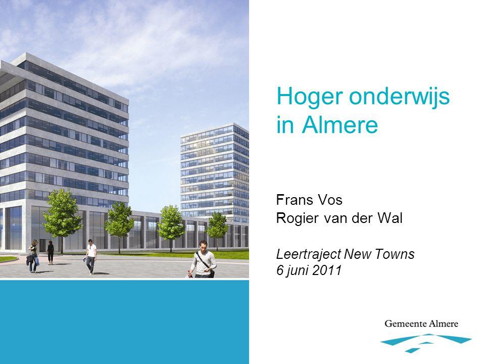 Het begin… •ruim tien jaar samenwerking met Hogeschool van Amsterdam (HvA) •convenant hoger onderwijs Flevoland (januari 2007) .