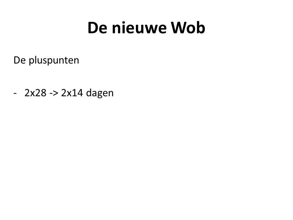 De nieuwe Wob De pluspunten -2x28 -> 2x14 dagen