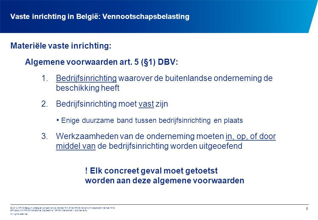 Vaste inrichting in België: juridische aandachtspunten