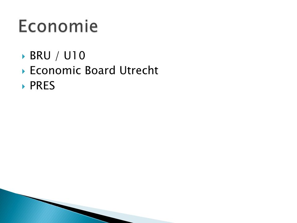  BRU / U10  Economic Board Utrecht  PRES