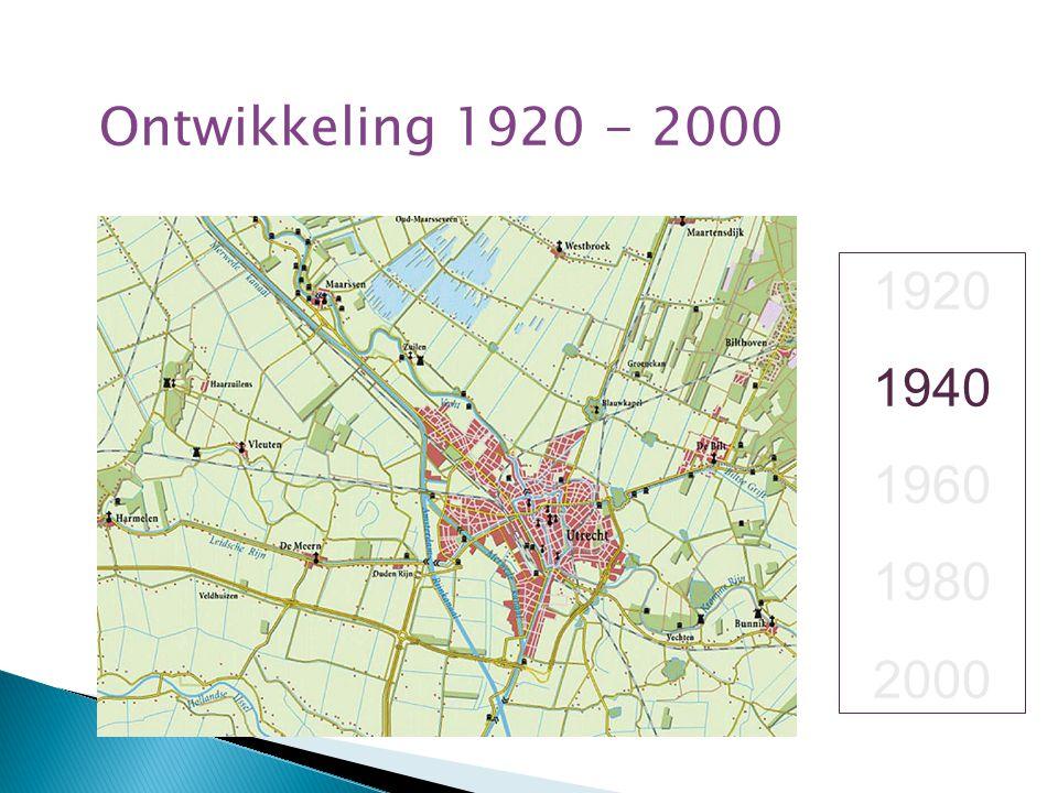 Ontwikkeling 1920 - 2000 1920 1940 1960 1980 2000