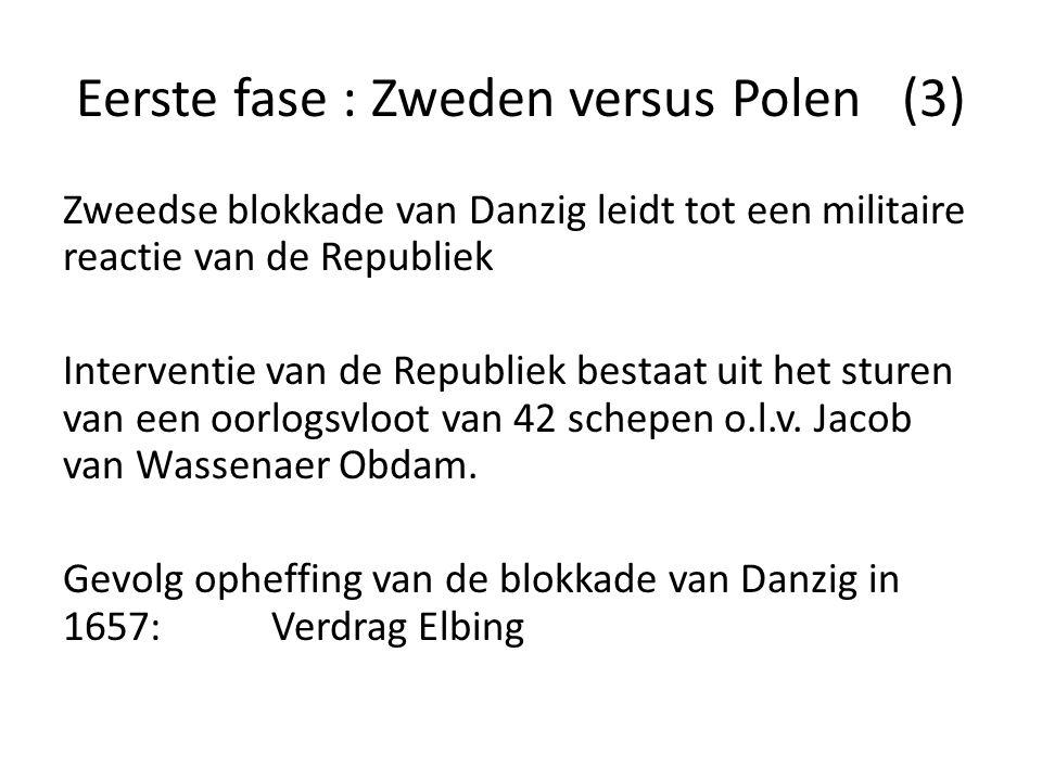 Eerste fase : Zweden versus Polen (3) Zweedse blokkade van Danzig leidt tot een militaire reactie van de Republiek Interventie van de Republiek bestaa
