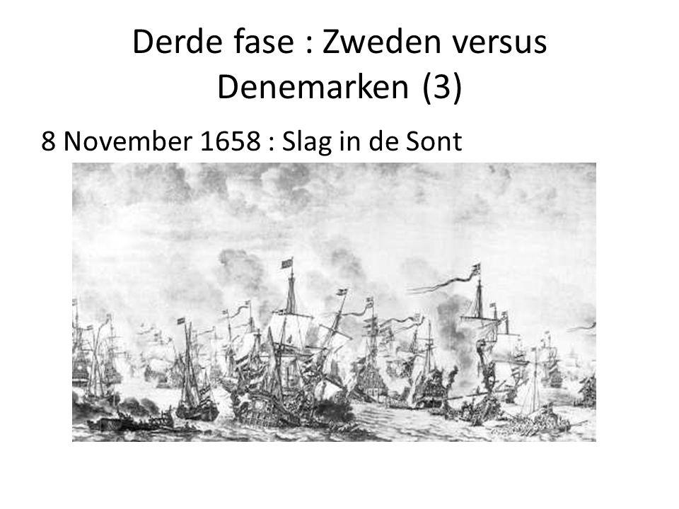 Derde fase : Zweden versus Denemarken (3) 8 November 1658 : Slag in de Sont