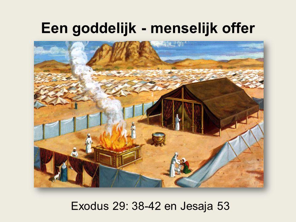 Een goddelijk - menselijk offer Exodus 29: 38-42 en Jesaja 53