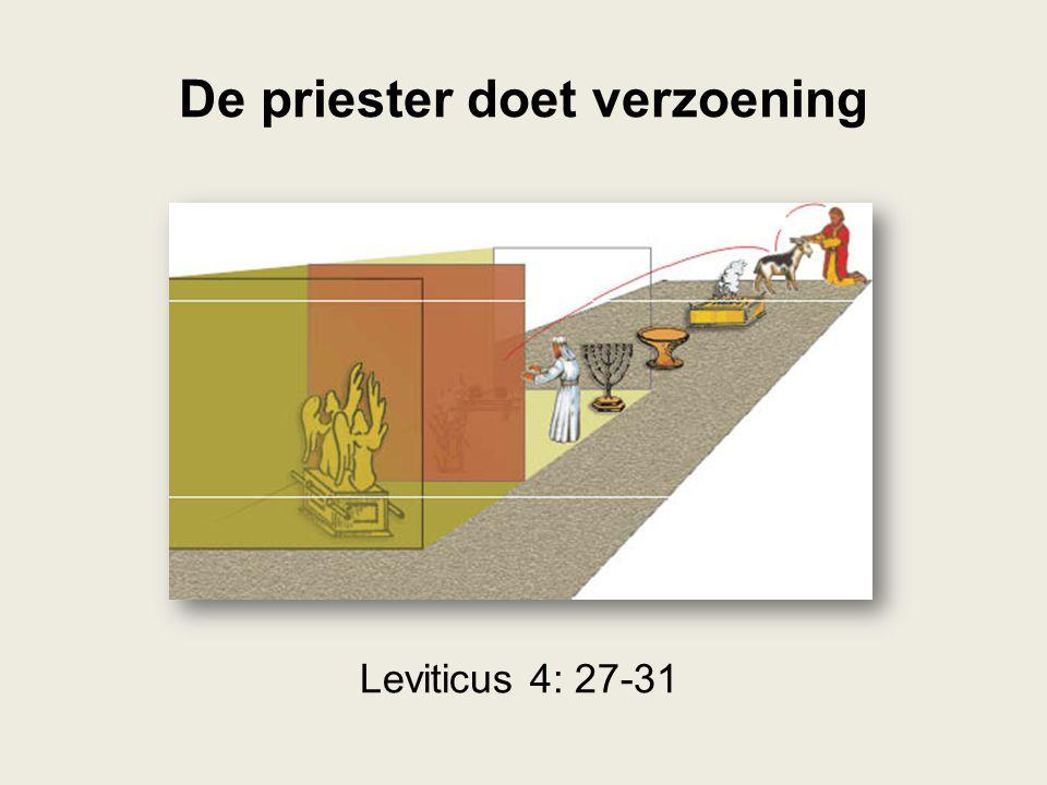 De priester doet verzoening Leviticus 4: 27-31