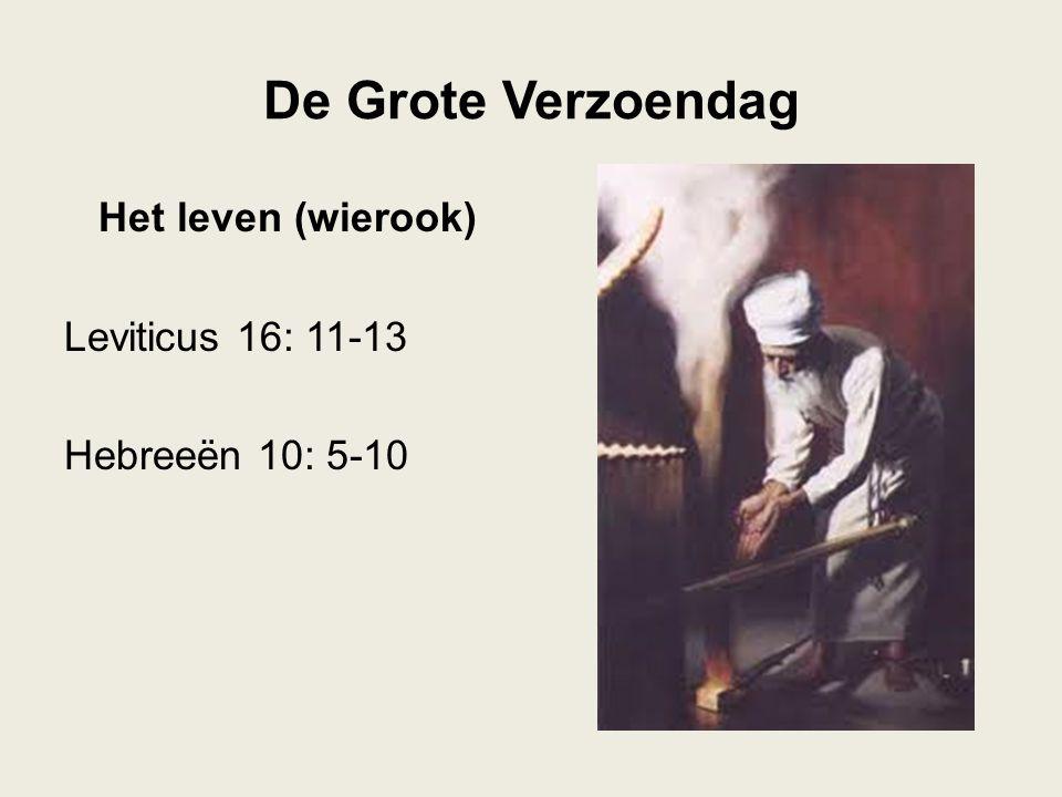 De Grote Verzoendag Het leven (wierook) Leviticus 16: 11-13 Hebreeën 10: 5-10