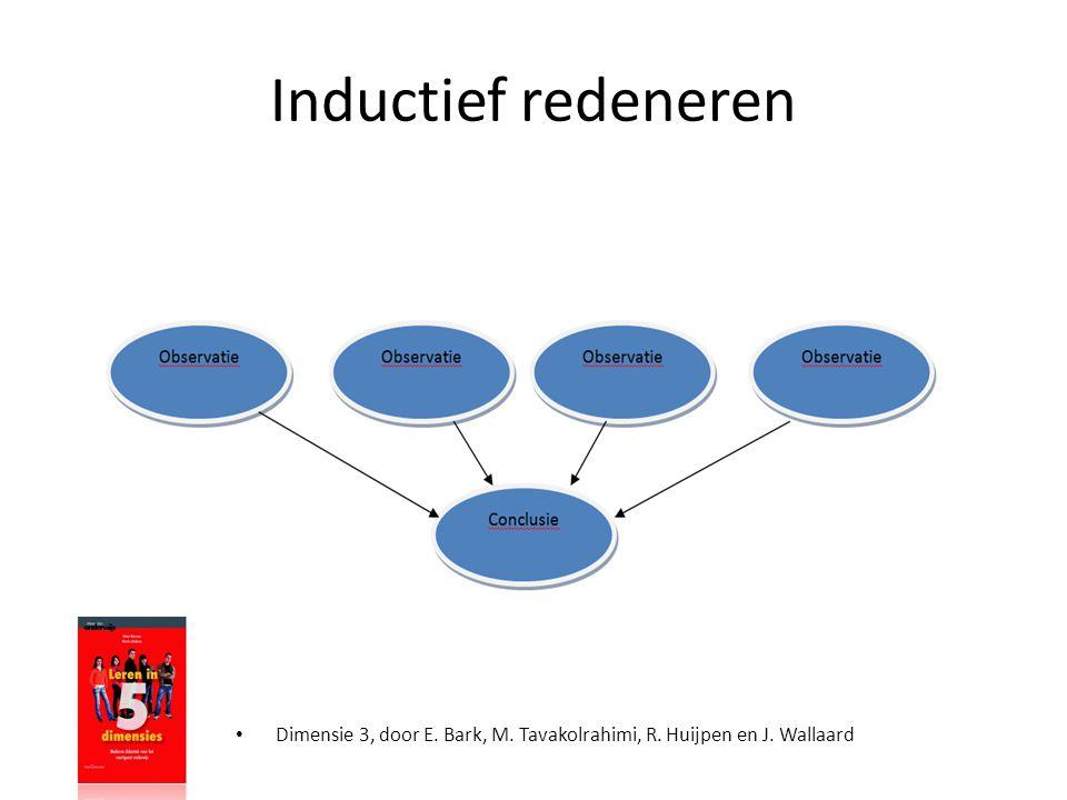• Dimensie 3, door E. Bark, M. Tavakolrahimi, R. Huijpen en J. Wallaard Inductief redeneren