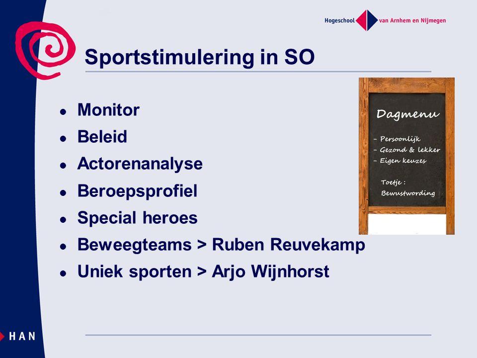 Sportstimulering in SO  Monitor  Beleid  Actorenanalyse  Beroepsprofiel  Special heroes  Beweegteams > Ruben Reuvekamp  Uniek sporten > Arjo Wijnhorst