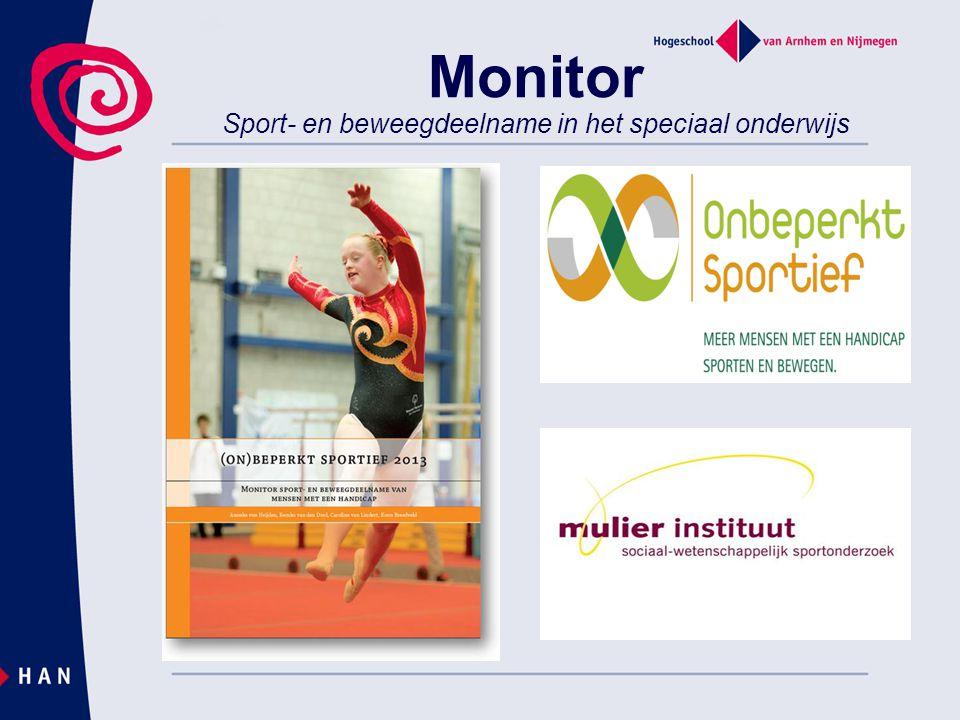 Monitor Sport- en beweegdeelname in het speciaal onderwijs